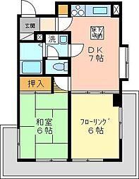 ホーユウパレス金沢八景[104号室]の間取り