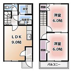 [テラスハウス] 愛知県清須市土田 の賃貸【/】の間取り