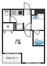 b'CASA Sakuradai[3階]の間取り
