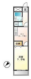 愛知県名古屋市中区大須2の賃貸マンションの間取り