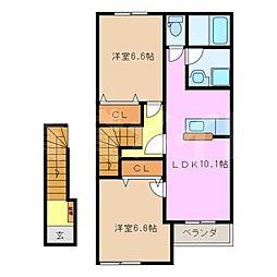 サンルーラルII[2階]の間取り