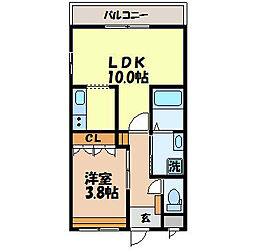 長崎県長崎市上小島3丁目の賃貸アパートの間取り