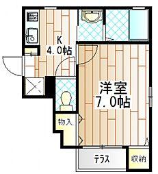 神奈川県座間市相武台1の賃貸アパートの間取り