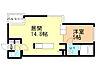 間取り,1LDK,面積40.05m2,賃料5.5万円,札幌市営東西線 琴似駅 徒歩6分,JR函館本線 琴似駅 徒歩14分,北海道札幌市西区琴似一条7丁目3番26号