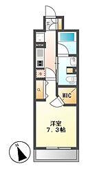 パークアクシス東別院[5階]の間取り