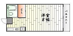 神奈川県横浜市中区本牧満坂の賃貸アパートの間取り