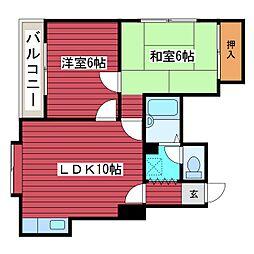 マンション今井[2階]の間取り