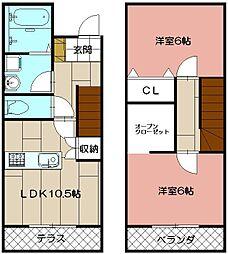 R's Residence黒崎南[M2号室]の間取り