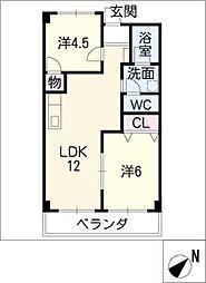 リンピアロマンA[1階]の間取り