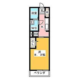 サウス グレイスマンション[2階]の間取り