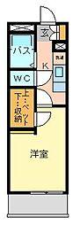 レオパレスドミール小倉[1階]の間取り