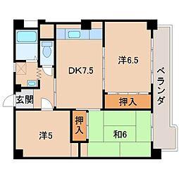 第2川端マンション[3階]の間取り
