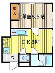 外立コーポ[2階]の間取り