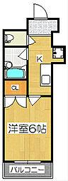 ギャラリーカトマンション[401号室]の間取り