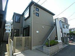 東京都調布市多摩川3の賃貸アパートの外観