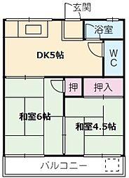 愛知県名古屋市南区堤起町1の賃貸アパートの間取り
