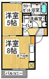 K-UCHIDA[103号室]の間取り
