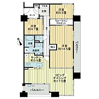 間取り(11階角部屋)