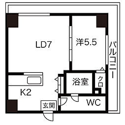 AMSタワー中島[1706号室]の間取り