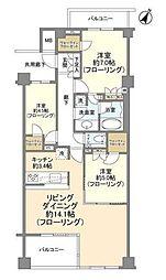 ブランズ大井仙台坂イーストヒル 3階3LDKの間取り