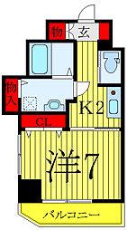 JR山手線 巣鴨駅 徒歩10分の賃貸マンション 5階1Kの間取り