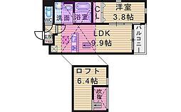 カーサデカローレ[201号室]の間取り