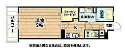 福岡県北九州市小倉北区白萩町の賃貸マンションの間取り