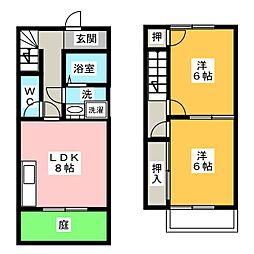 [テラスハウス] 愛知県一宮市赤見4丁目 の賃貸【愛知県 / 一宮市】の間取り