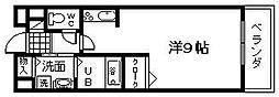 大阪府岸和田市下池田町1丁目の賃貸アパートの間取り