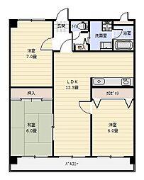 パストラール[4階]の間取り