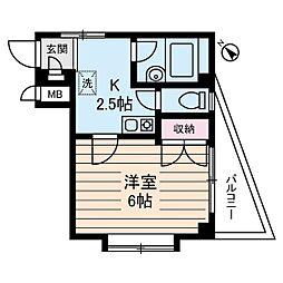 ハイツヤスハラ[2階]の間取り
