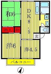 ハイツコジマ[3階]の間取り