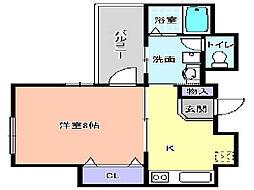 プログレス櫛屋町[302号室]の間取り