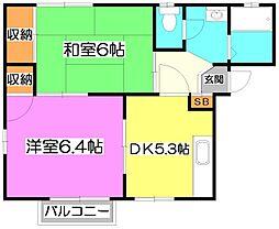ユカリコーポC[2階]の間取り