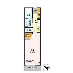 メゾン・ソレーユ[2階]の間取り