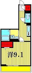 (仮)D-room吉川市保一丁目 2階1Kの間取り