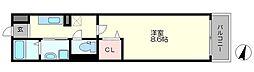 大阪府大阪市東淀川区井高野1丁目の賃貸アパートの間取り