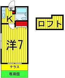 矢崎ハイツ[101号室]の間取り