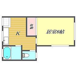 東京都北区赤羽西2丁目の賃貸アパートの間取り