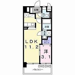 グロ−ヴ・ガ−デンE[8階]の間取り