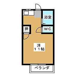 ハイムパシフィック A棟[2階]の間取り