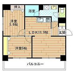 エステート博多駅南ハウス[4階]の間取り