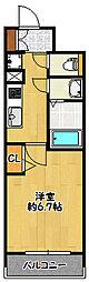 神戸市海岸線 ハーバーランド駅 徒歩4分の賃貸マンション 6階1Kの間取り
