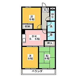 レジデンス旭[6階]の間取り