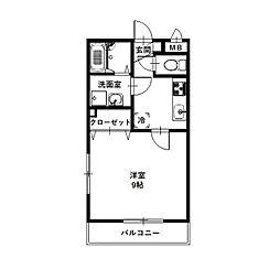 愛知県安城市今本町2丁目の賃貸アパートの間取り