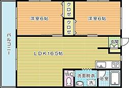 レガロ小倉南壱番館[402号室]の間取り