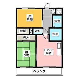 パークサイド極楽[2階]の間取り