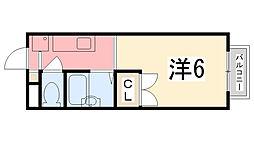 エステートピアセルベーユII[203号室]の間取り