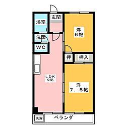 ロイヤルハイツ白子駅[6階]の間取り