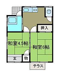 [一戸建] 神奈川県相模原市中央区弥栄1丁目 の賃貸【/】の間取り